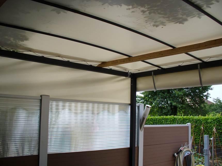 bache cr ation vente en ligne de bache de terrasse sur mesure type cot avant. Black Bedroom Furniture Sets. Home Design Ideas