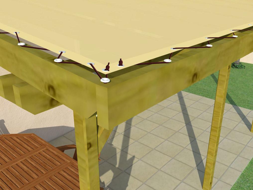 bache cr ation vente en ligne de bache pergola chevron murale sur mesure. Black Bedroom Furniture Sets. Home Design Ideas