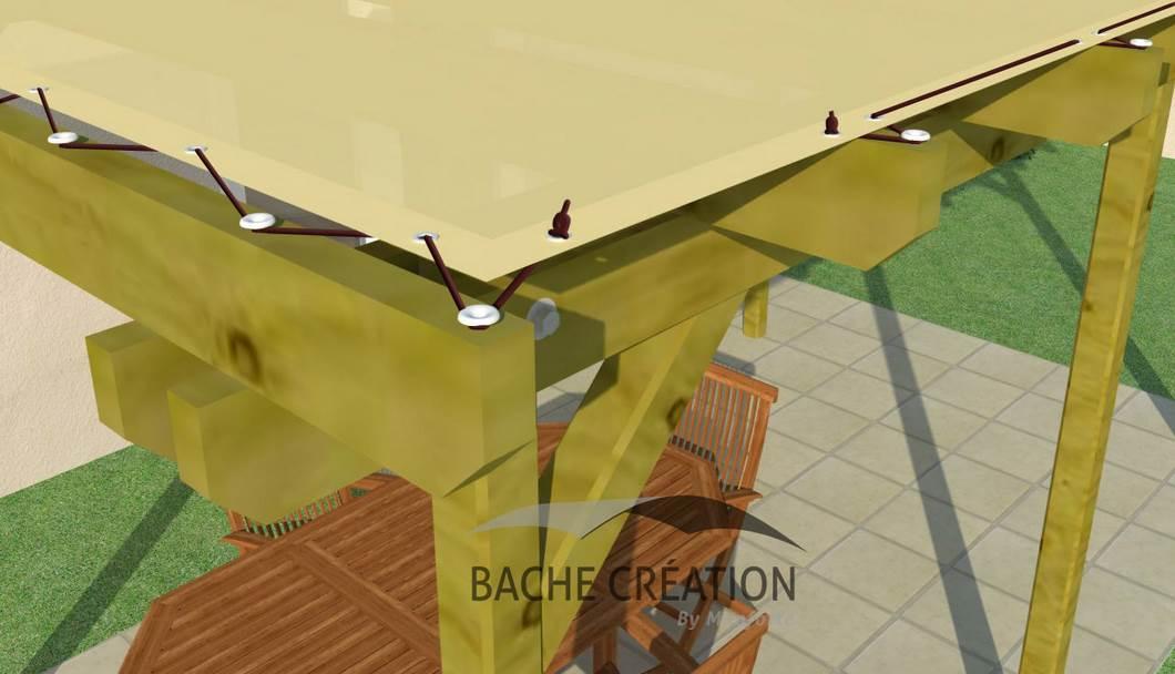 bache cr ation vente en ligne de bache pergola chevron sur pieds sur mesure. Black Bedroom Furniture Sets. Home Design Ideas