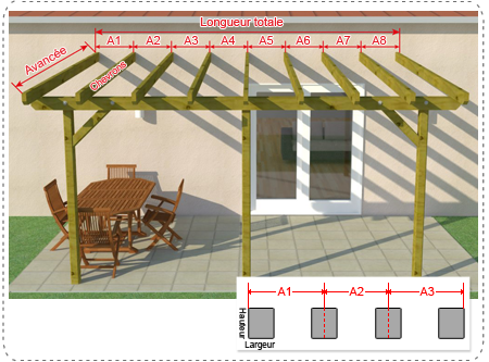 plan de pergola affordable pergola ossature bois et toiture en verre pour se sentir dehors mme. Black Bedroom Furniture Sets. Home Design Ideas