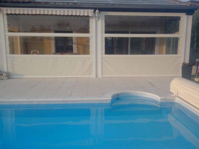 Bache cr ation vente en ligne de bache pour toit de terrasse - Rideau roulant terrasse ...